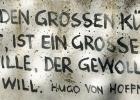 Zitat an einer Berliner Mauer