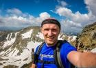 Selfie kurz vor dem Gipfel