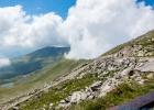 Wolken am Grat. HDR Foto beim wohlverdienten Bier beim Schutzhaus