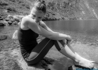 Melanie in B&W am Wildsee
