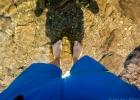 kühlende Kneipp-Kur am Wildsee, leider zu kalt zum Baden