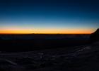 Sonnenaufgang beim Panoramarestaurant Dachstein