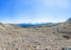 Panorama in die karge Landschaft