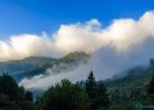 Wolkenschwaden vom Parkplatz aus