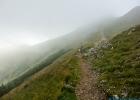 weiter im Nebel Richtung Polster Gipfel