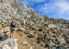 Penelope beim steilen Anstieg zur Vordernberger Griesmauer