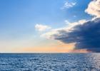 ein leichtes Gewitter zieht auf