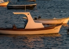 Boot in der Morgensonne