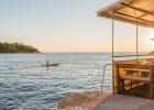 idyllische Stimmung in einer Bar am Meer (Rovinj)