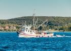 Fischerboot auf der Rückfahrt in den Hafen