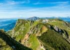 Kurz vor dem Gipfel, Blick auf die Reichensteinhütte