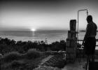 Sunset Selfie in B&W
