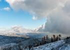 Wolkenfront beim Blick nach Osten