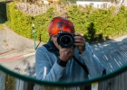 Selfie im Verkehrsspielgel