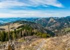 herrliche Aussicht beim Aufstieg auf den Schwarzkogel