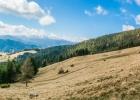 Panorama - Schnee bedeckt der Größenberg und der Ameringkogel - weiter links im Vordergrund der Speikkogel und der Rappoldkogel