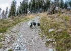 steiler steiniger Anstieg auf den Schwarzkogel