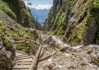 Silberkarklamm mit Seilbrücke vom Klettersteig