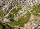Kreisverkehr im Gebirge