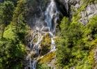 Wasserfall am Ende der Silberkarklamm (von unten kommend)