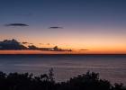 Ein herrlicher Sonnenuntergang von der Terrasse