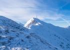 fast auf Augenhöhe, mit dem Polster Gipfel