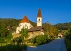 Kirche Adriach in der Morgensonne