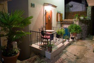 Terrasse vor unserem Häuschen